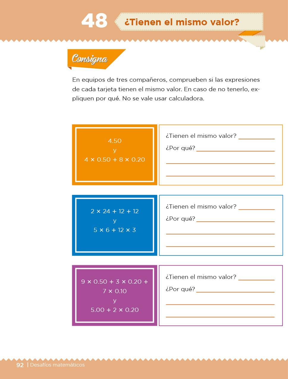 Desafíos Matemáticos Cuarto grado 2020-2021 - Página 92 de