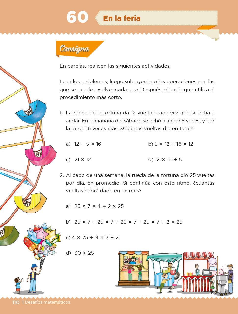 Desafíos Matemáticos Cuarto grado 2020-2021 - Página 110 de 257 - Libros de Texto Online