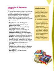Lengua Materna Español Quinto grado página 121