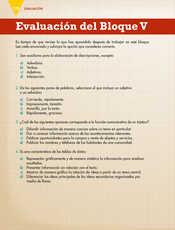 Lengua Materna Español Quinto grado página 170