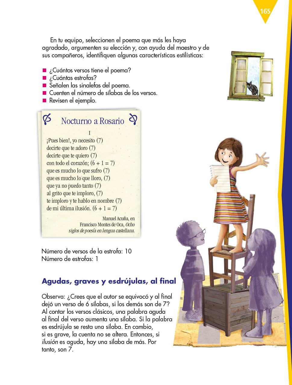 Español Sexto grado 2020-2021 - Página 165 de 185 - Libros