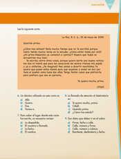 Lengua Materna Español Sexto grado página 157