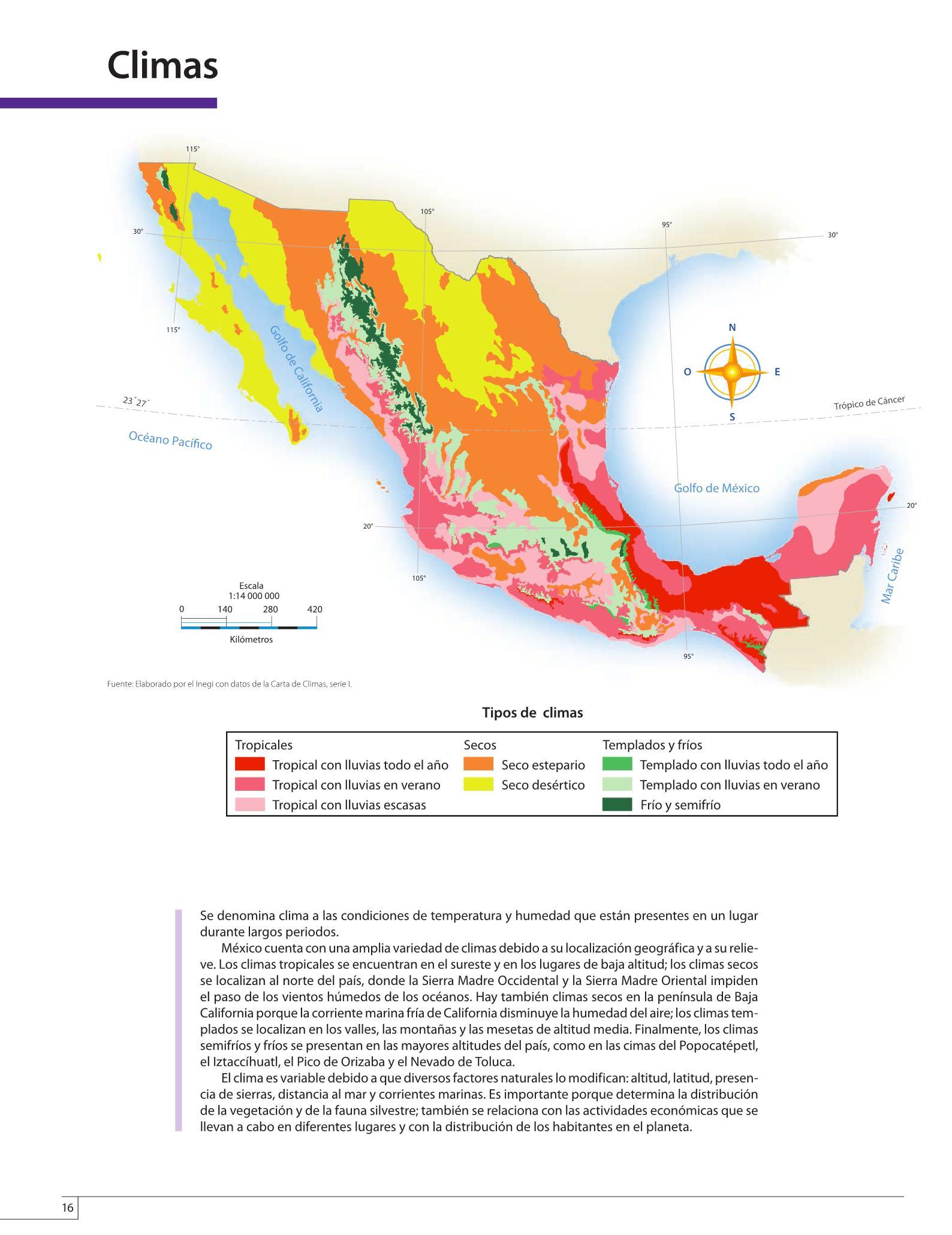 Atlas de México Cuarto grado 2016-2017 – Online | Libros de Texto ...