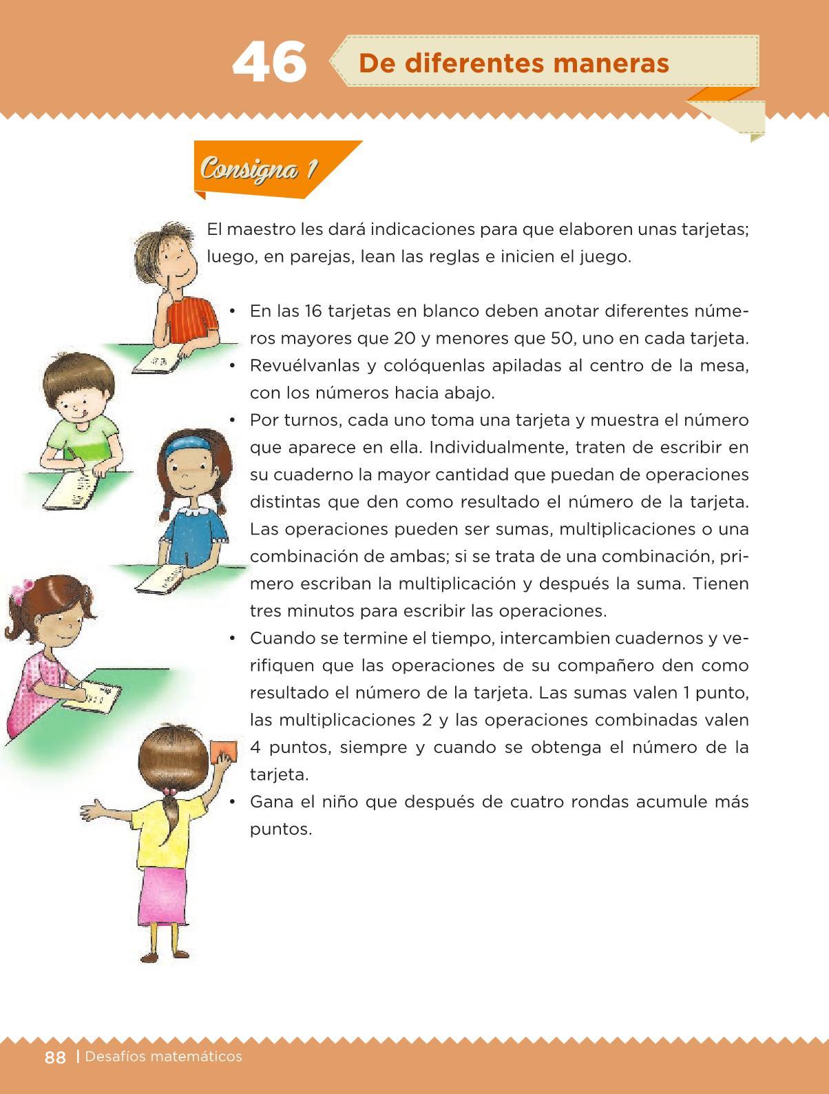 Desafíos Matemáticos libro para el alumno Cuarto grado