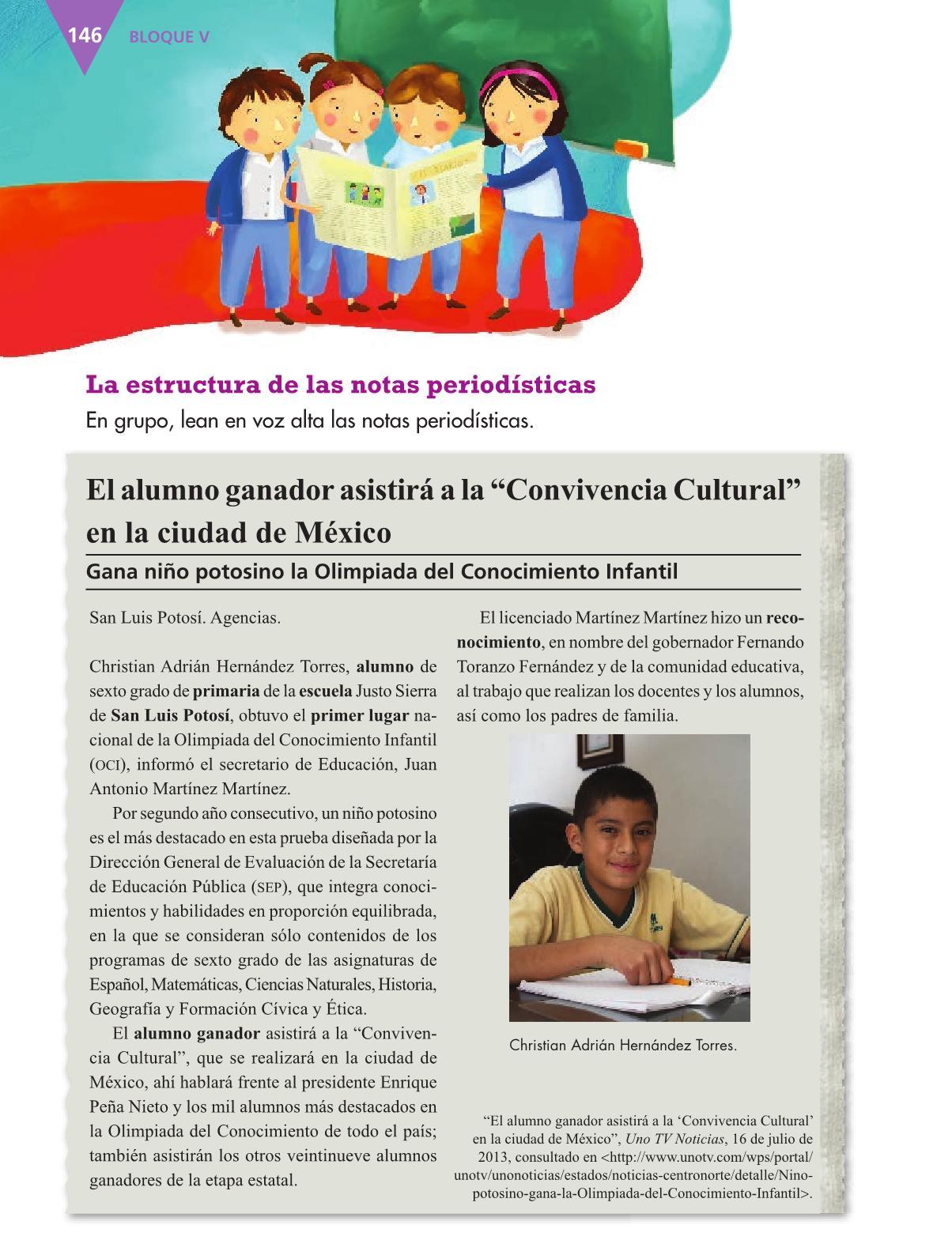 Español Libro para el alumnocuartoPagina 146