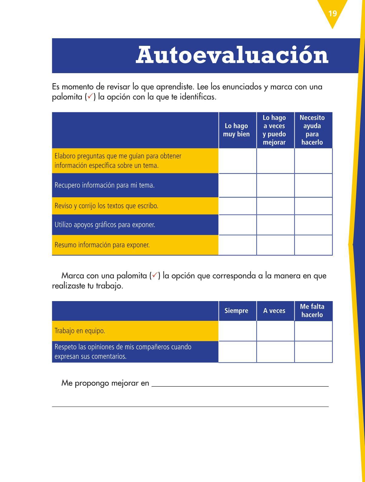 Español Libro para el alumnocuartoPagina 19