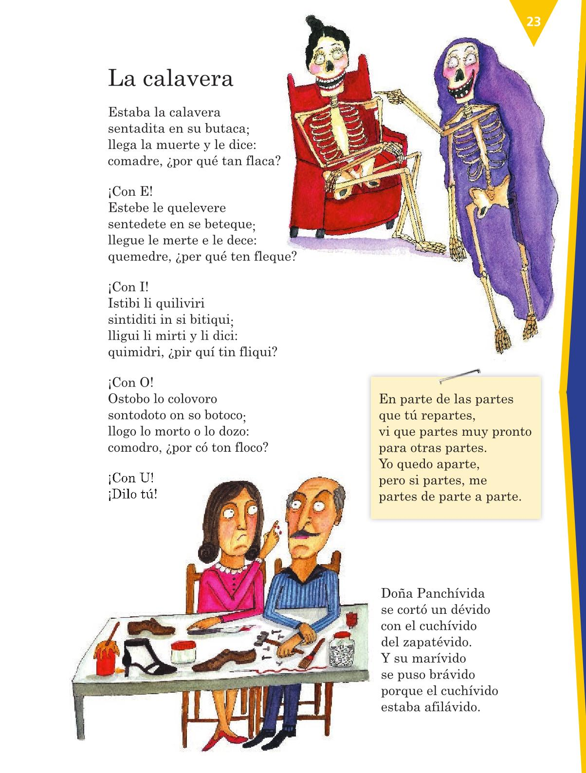 Español Libro para el alumnocuartoPagina 23