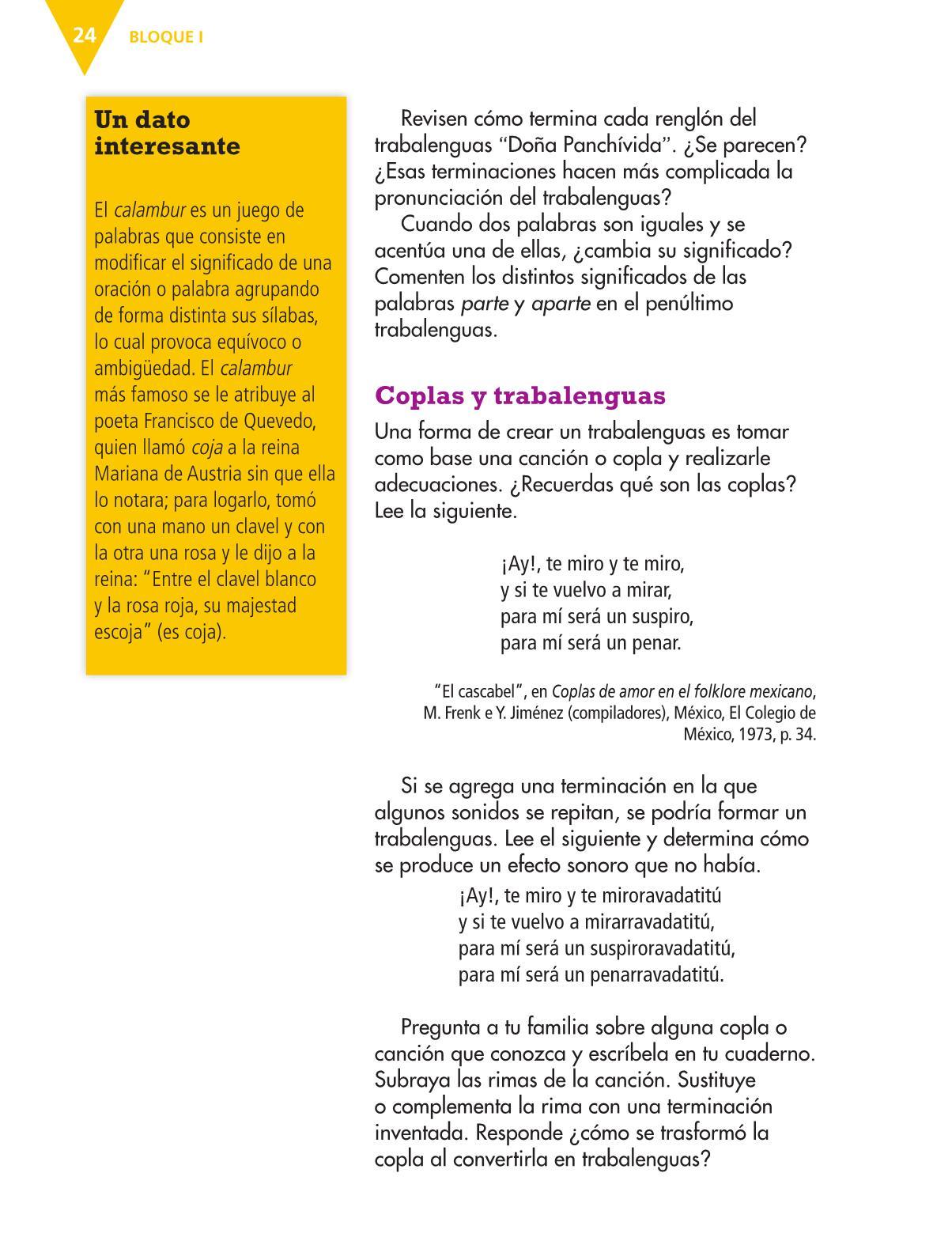 Español Libro para el alumnocuartoPagina 24