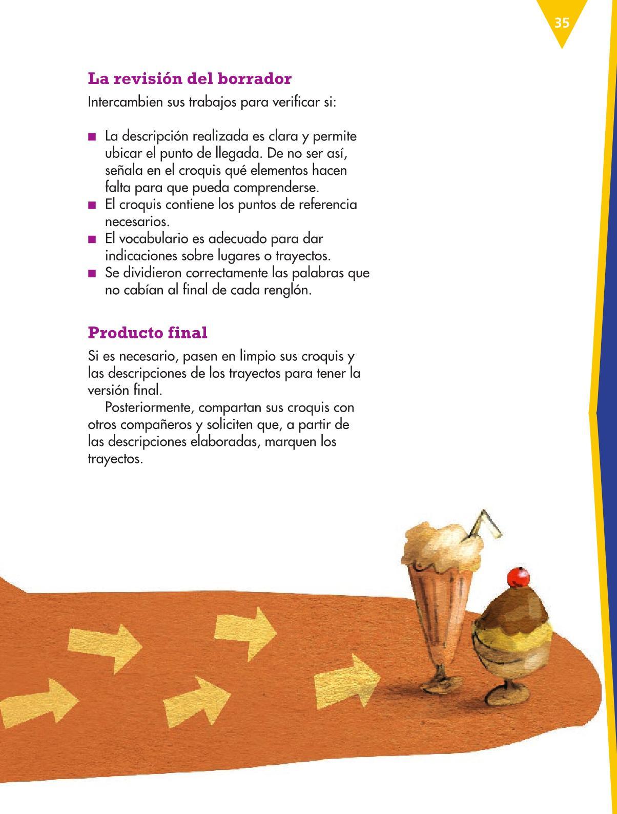 Español Libro para el alumnocuartoPagina 35