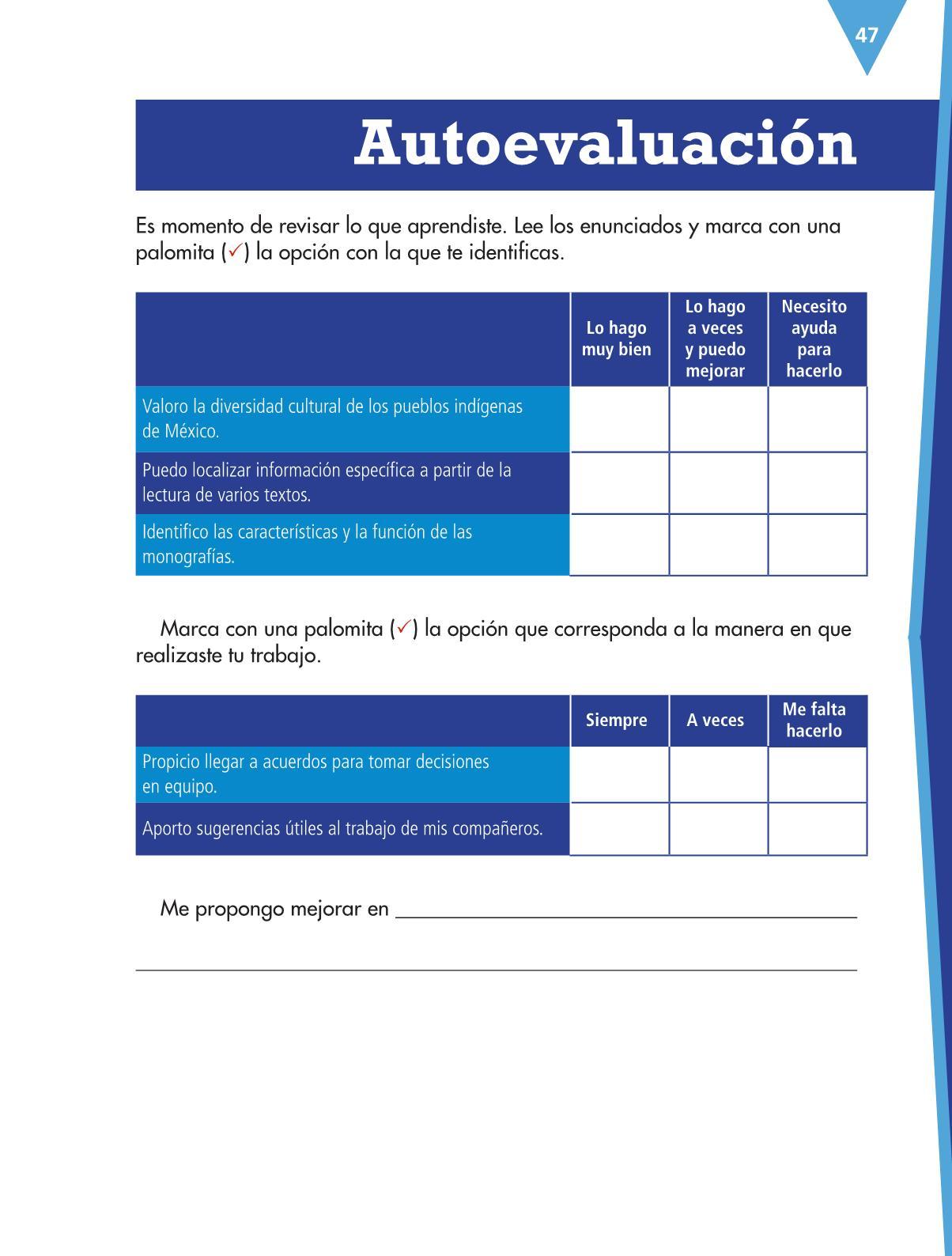Español Libro para el alumnocuartoPagina 47