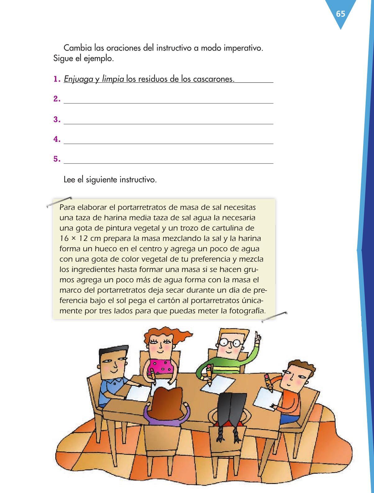 Español Libro para el alumnocuartoPagina 65