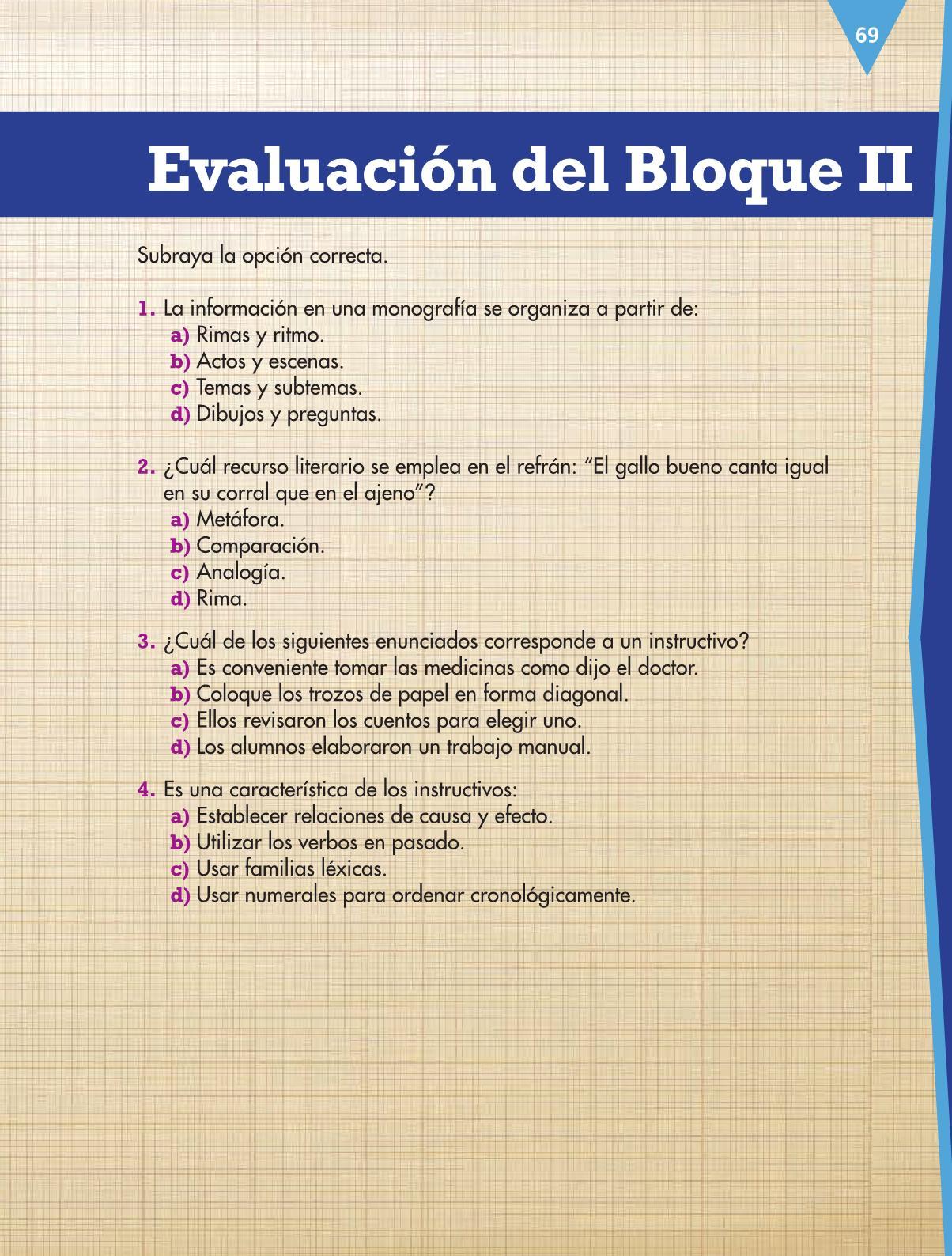 Español Libro para el alumnocuartoPagina 69