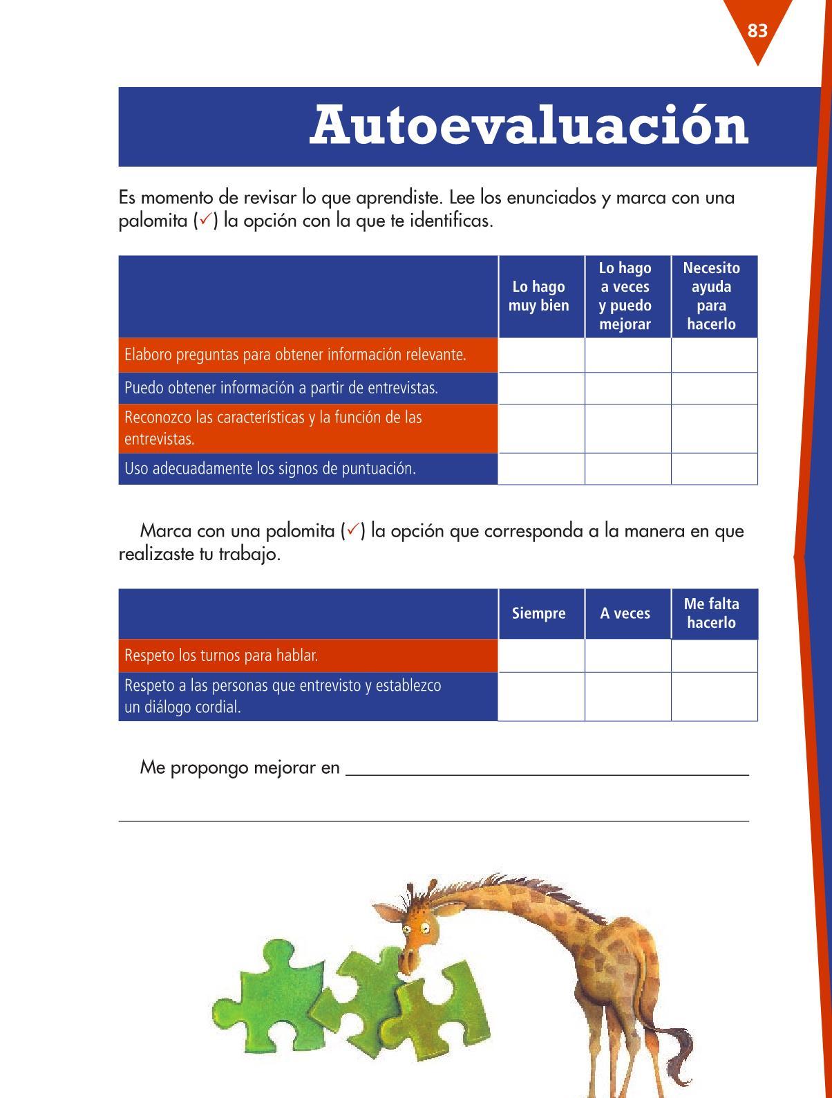 Español Libro para el alumnocuartoPagina 83