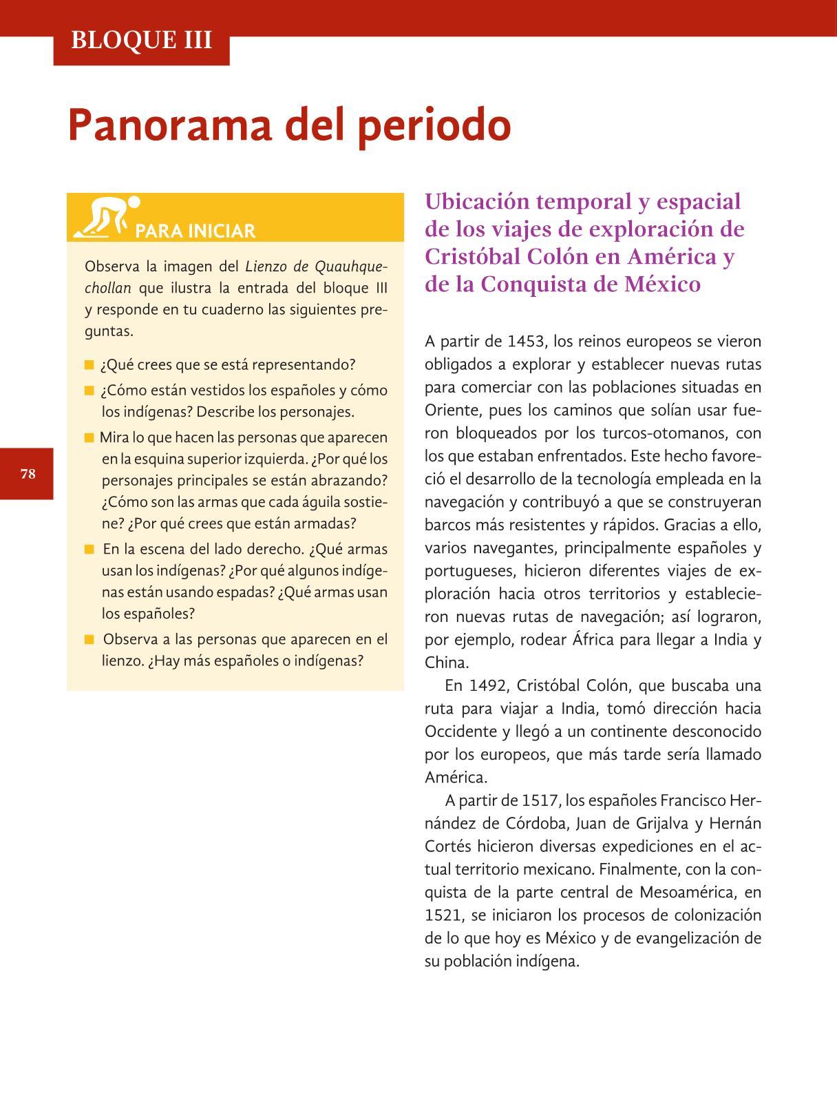 Historia Cuarto grado 2016-2017 - Online - Página 78 de 192 ...