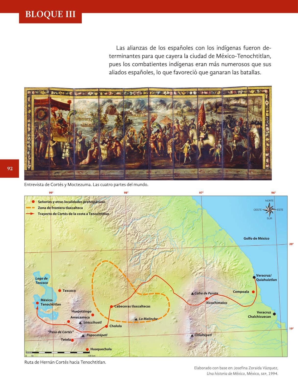 Historia cuarto grado 2016 2017 online libros de texto for Cuarto grado de primaria