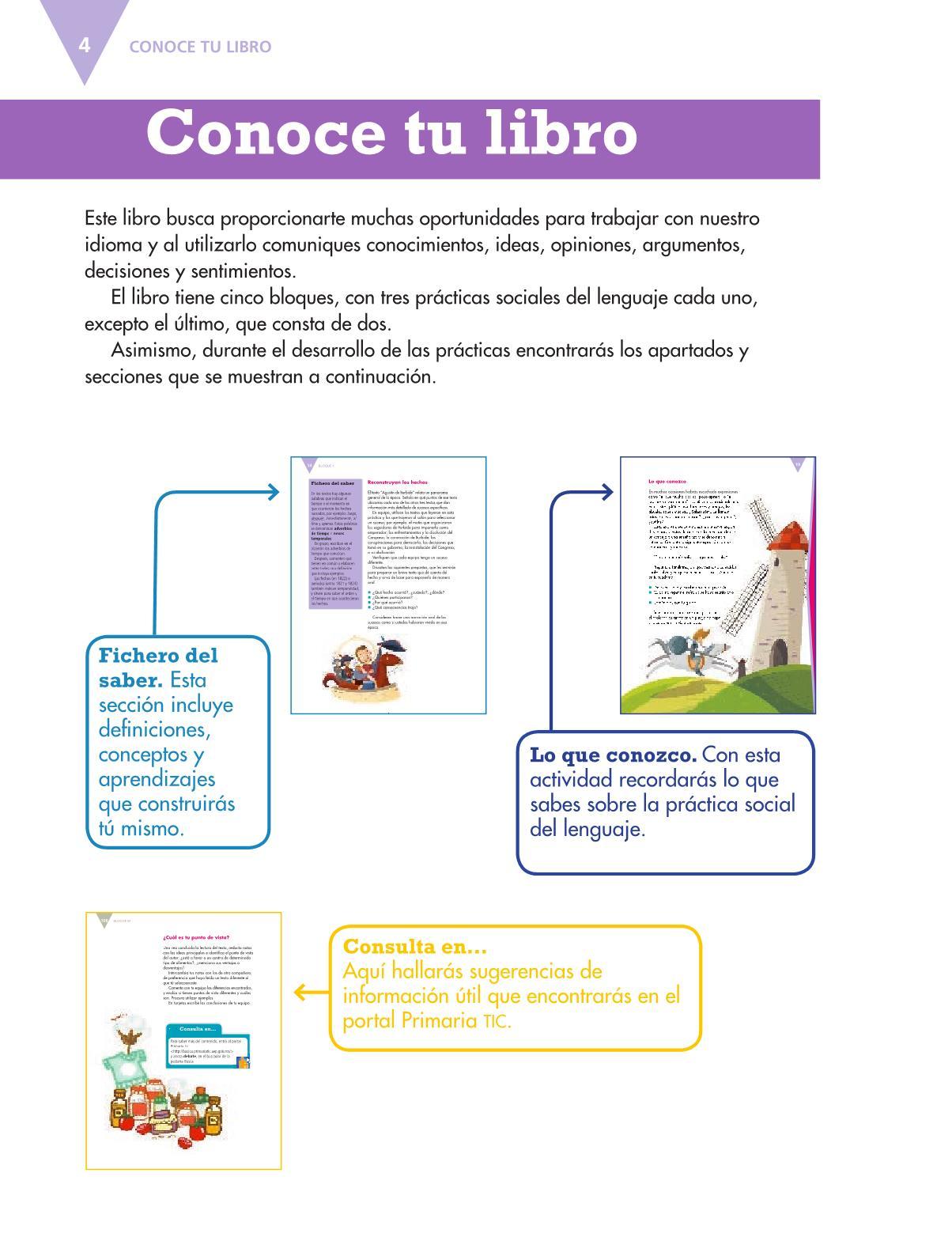 Español Libro para el alumnoquintoPagina 4