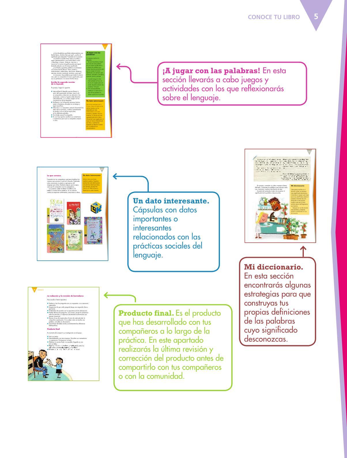 Español Libro para el alumnoquintoPagina 5