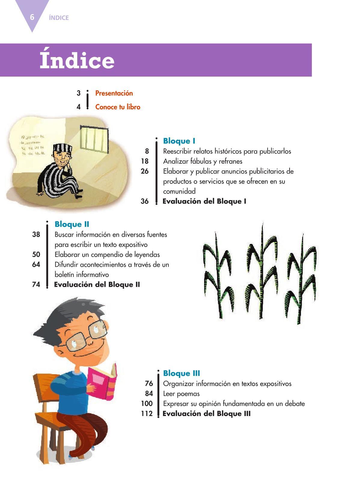 Español Libro para el alumnoquintoPagina 6