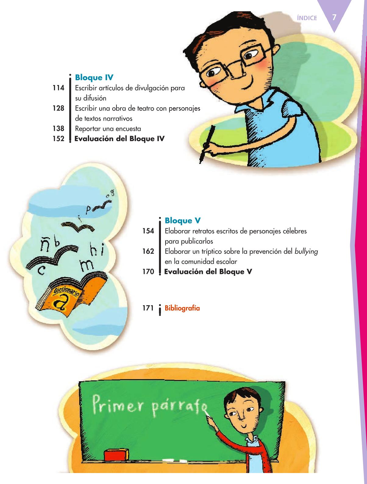 Español Libro para el alumnoquintoPagina 7