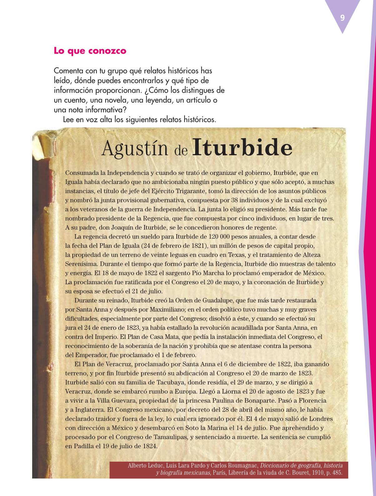 Español Libro para el alumnoquintoPagina 9