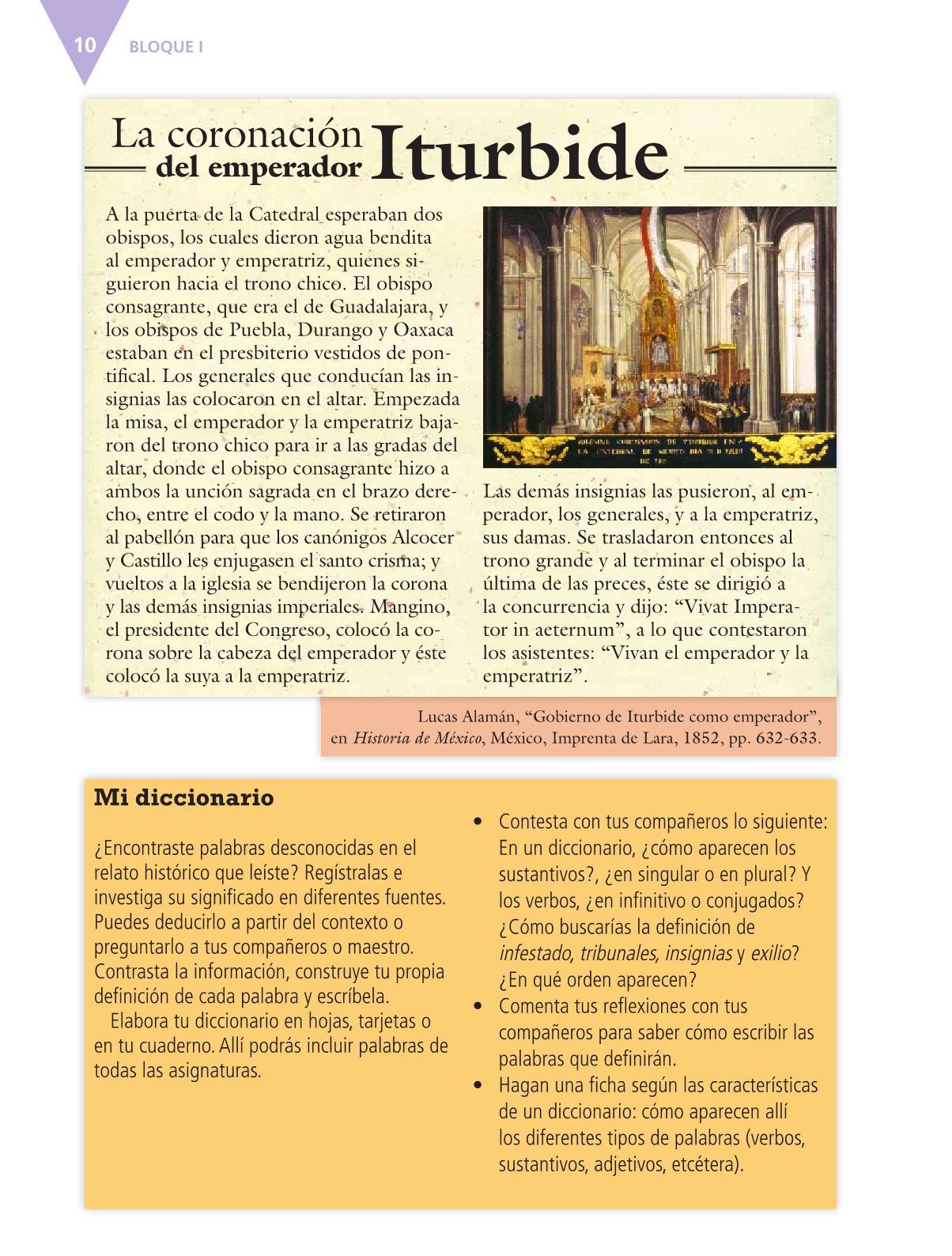 Español Libro para el alumnoquintoPagina 10