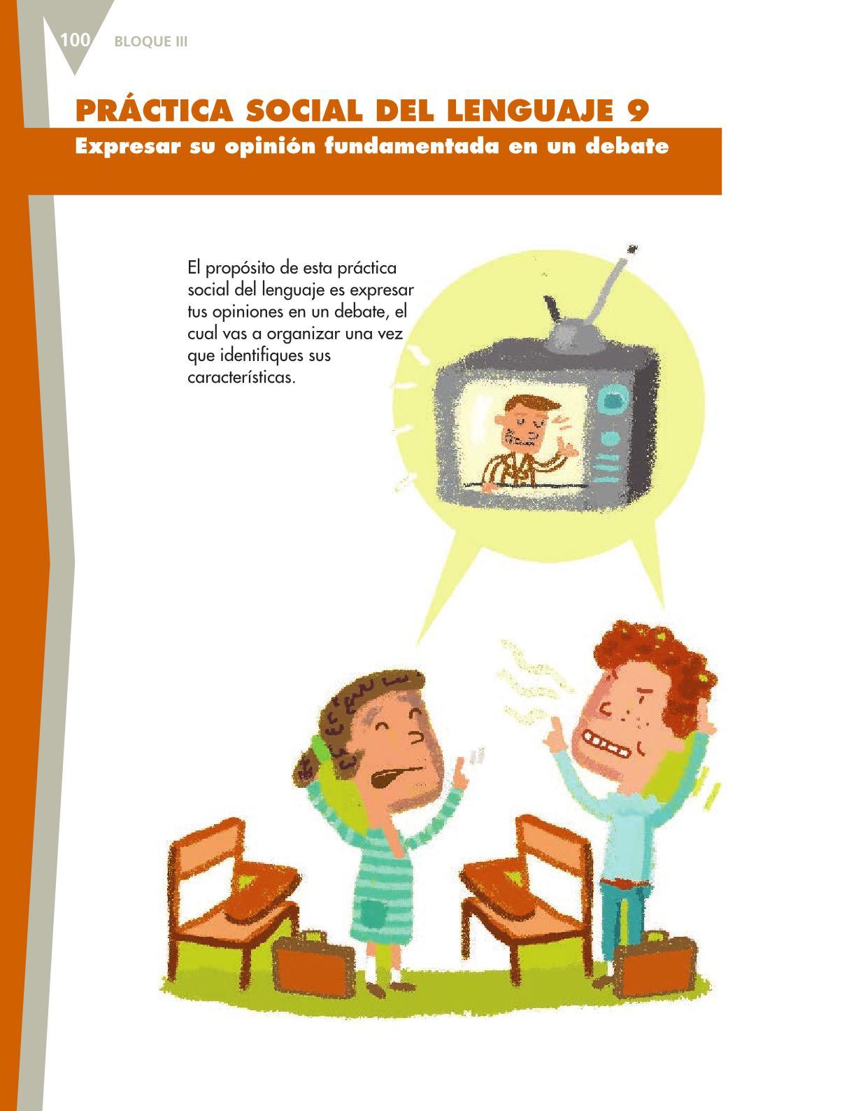 Español Libro para el alumnoquintoPagina 100