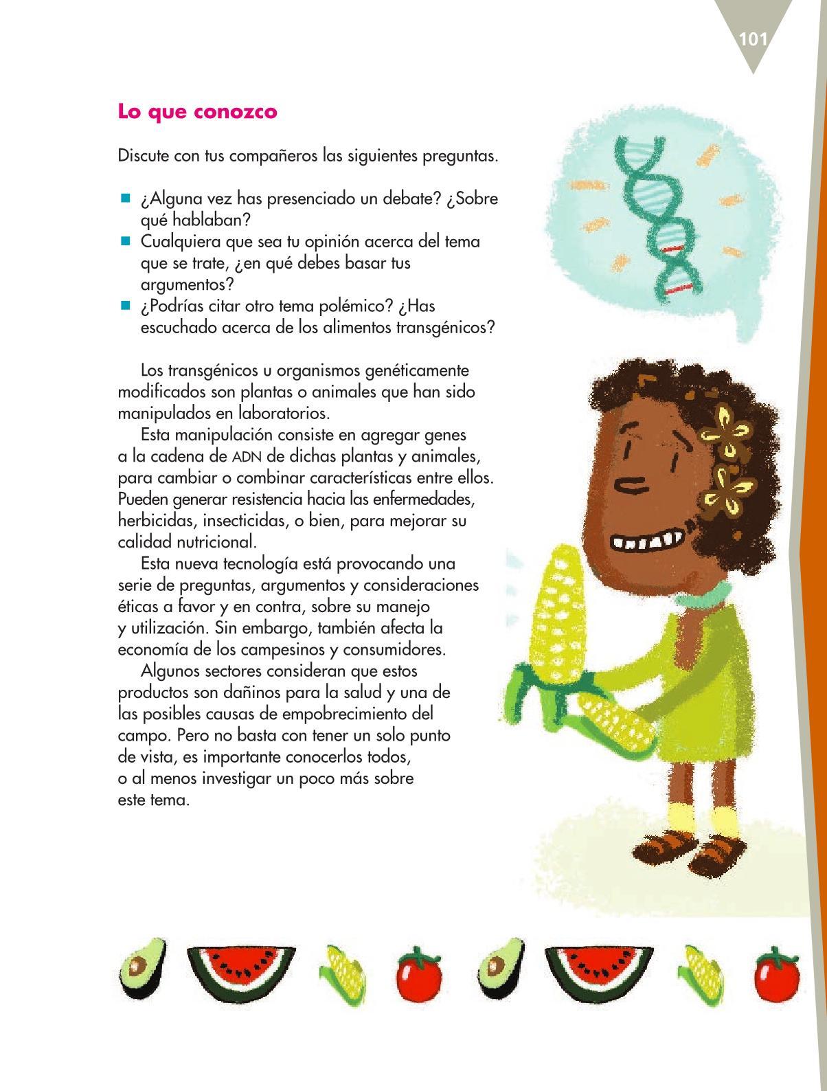 Español Libro para el alumnoquintoPagina 101