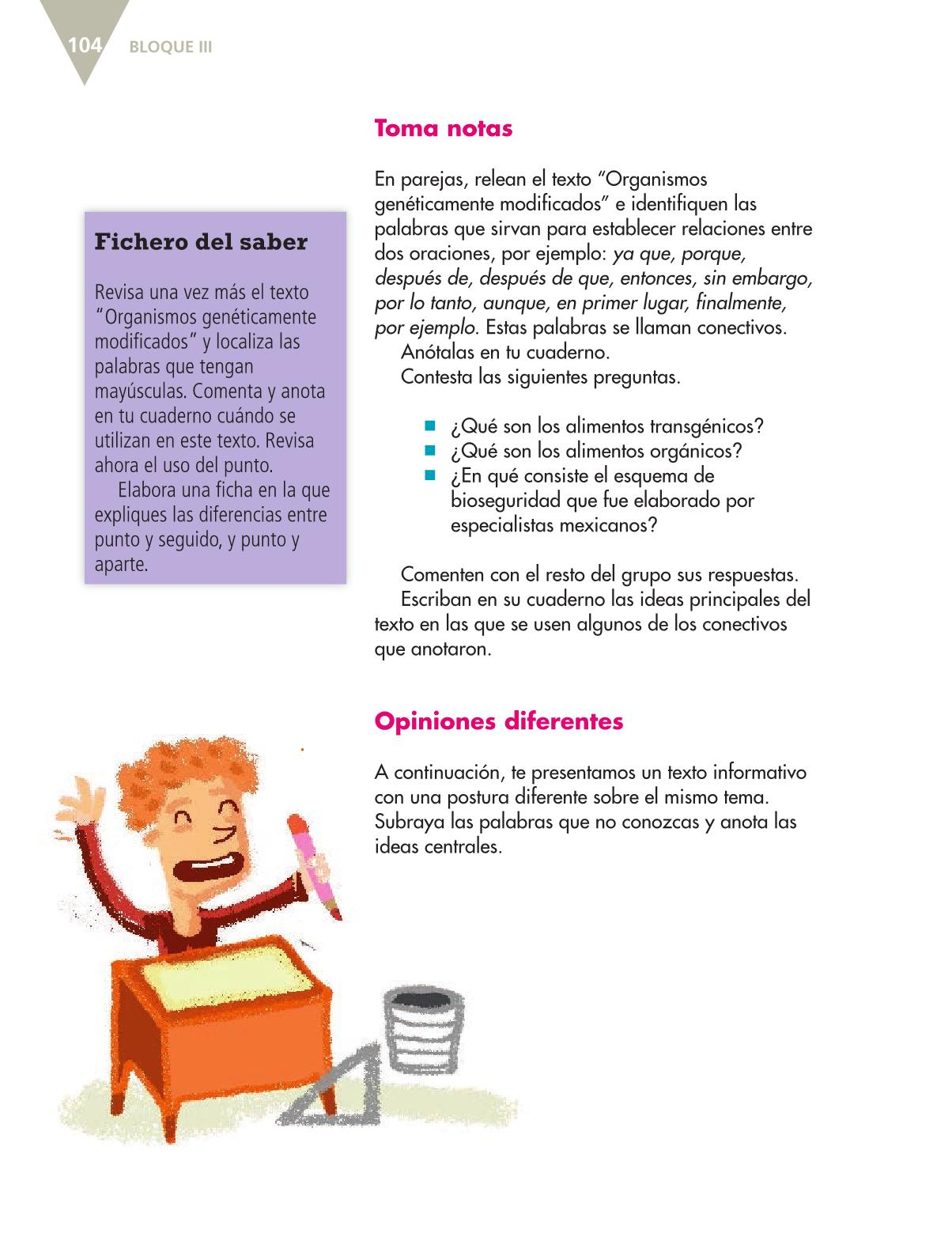 Español Quinto grado 2016-2017 - Libro de texto Online