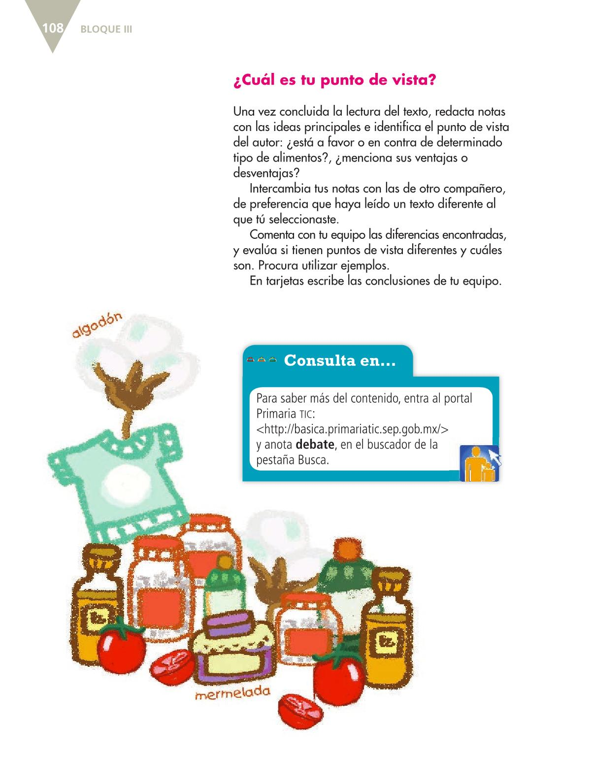 Español Libro para el alumnoquintoPagina 108