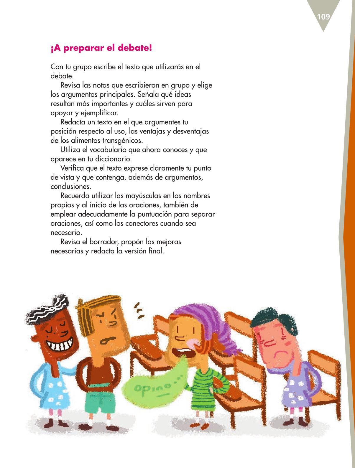 Español Libro para el alumnoquintoPagina 109