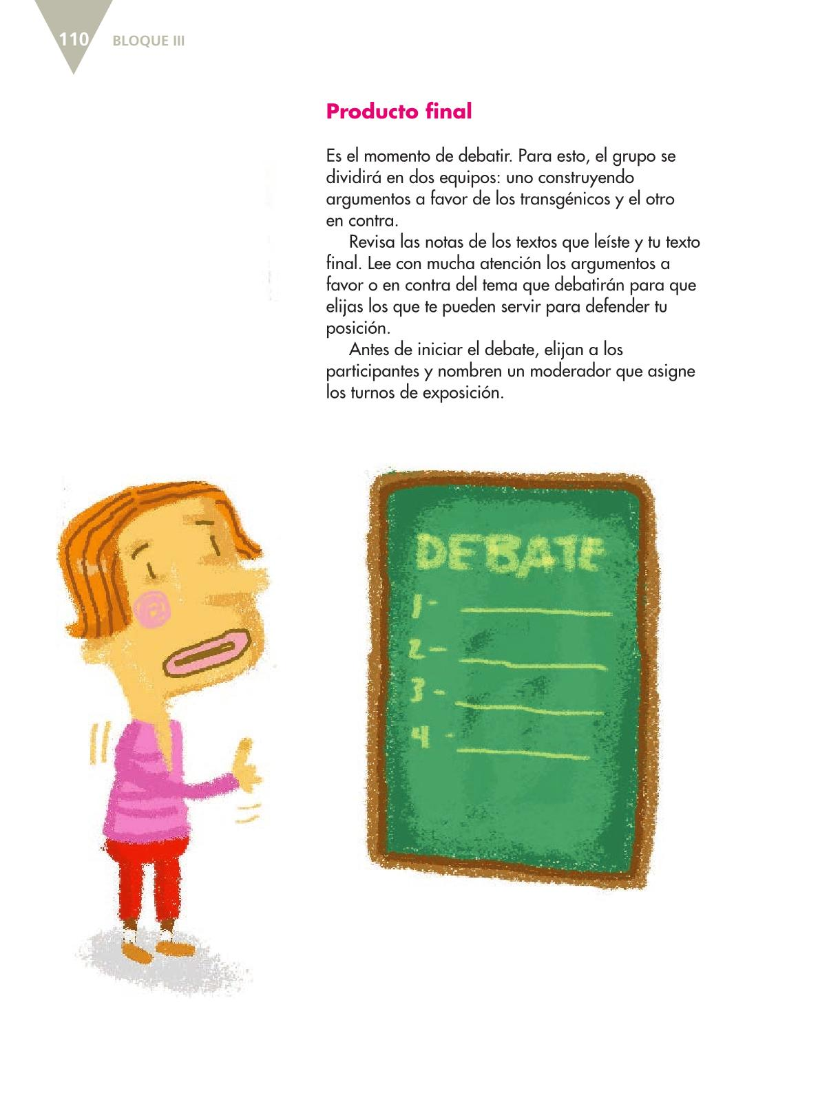 Español Libro para el alumnoquintoPagina 110