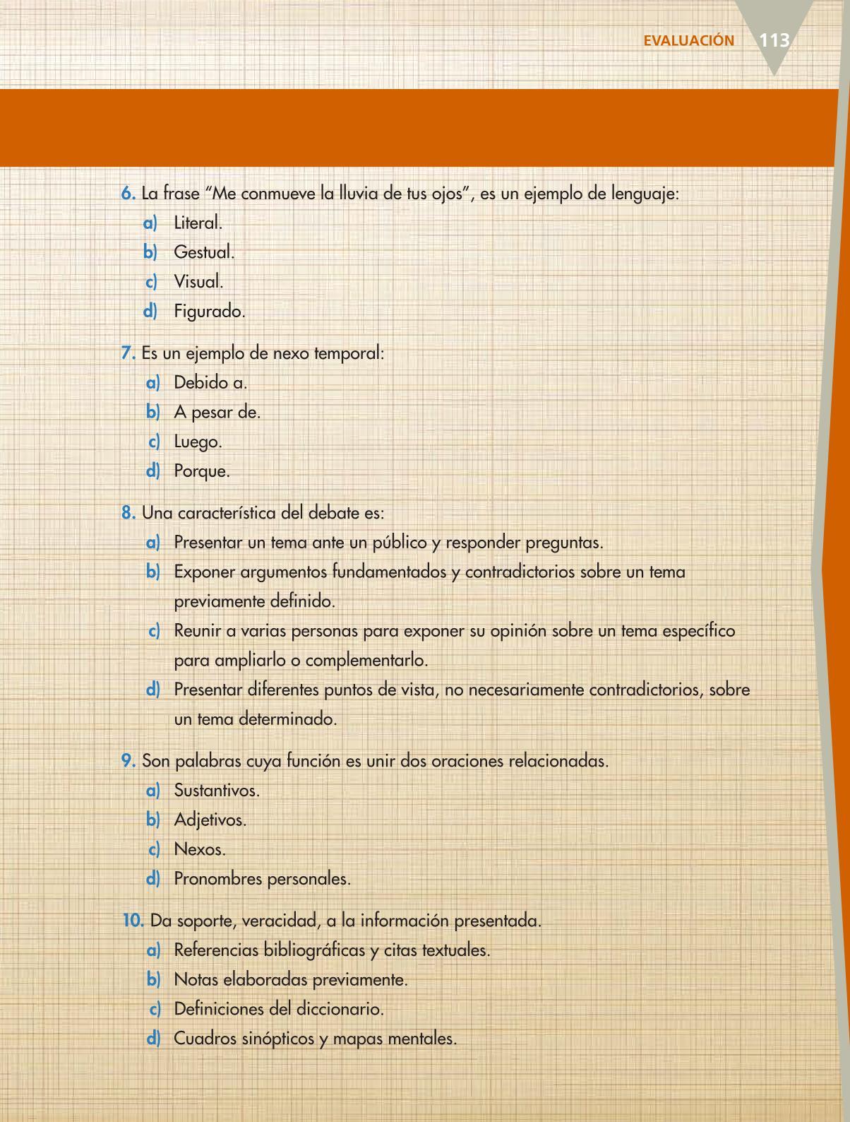 Español Libro para el alumnoquintoPagina 113