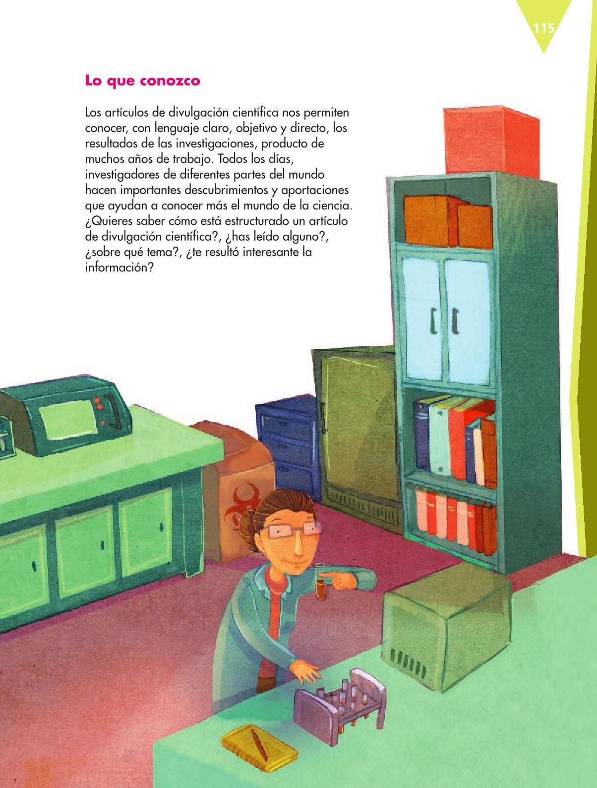Español Libro para el alumnoquintoPagina 115