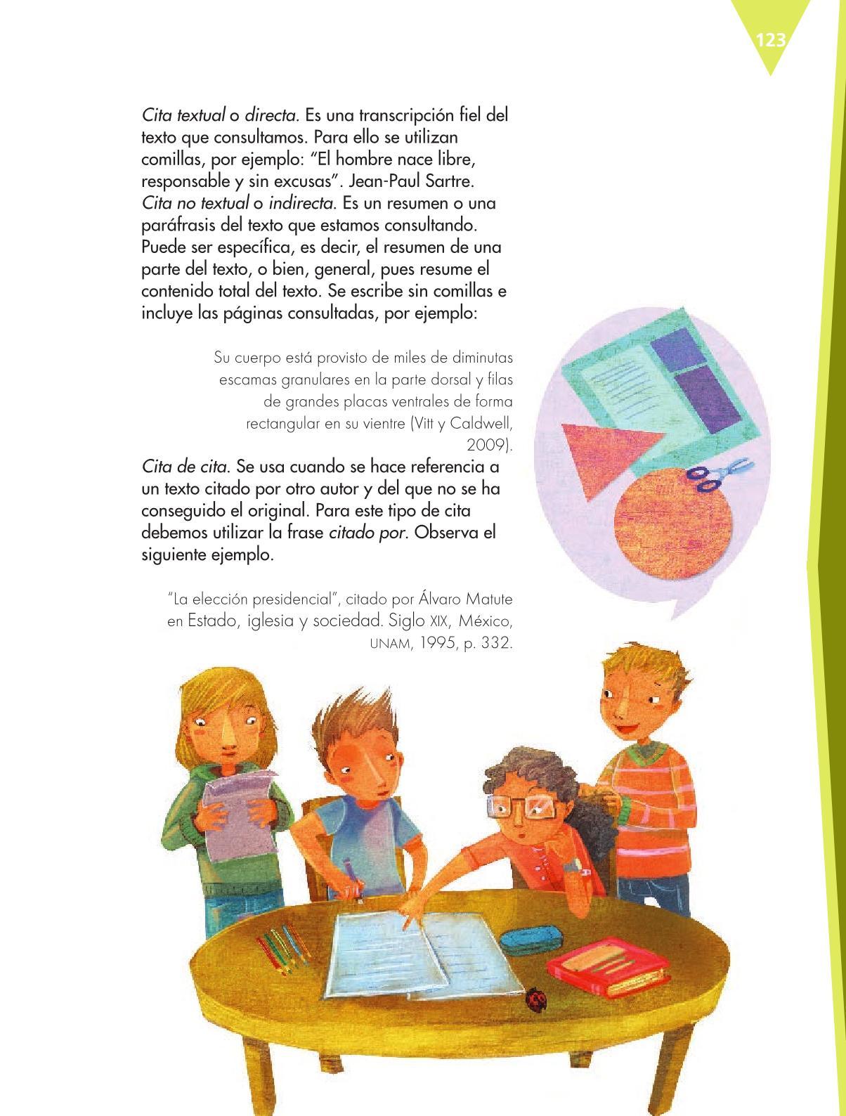 Español Libro para el alumnoquintoPagina 123