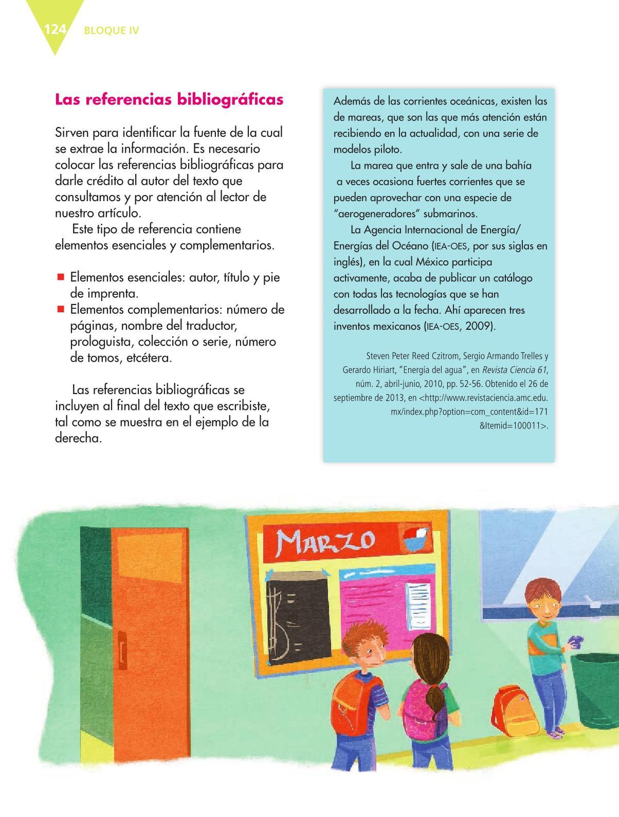 Español Libro para el alumnoquintoPagina 124