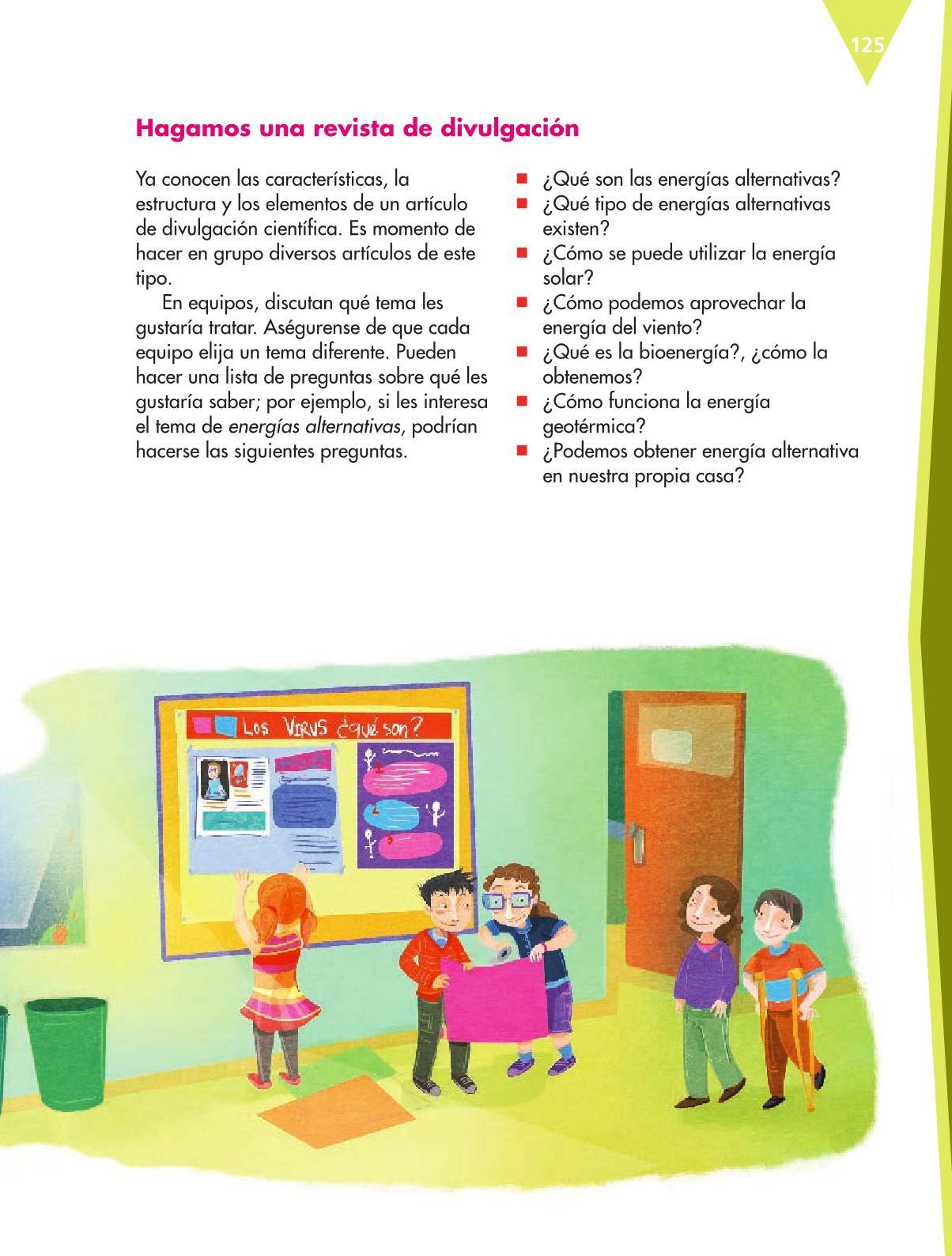Español Libro para el alumnoquintoPagina 125