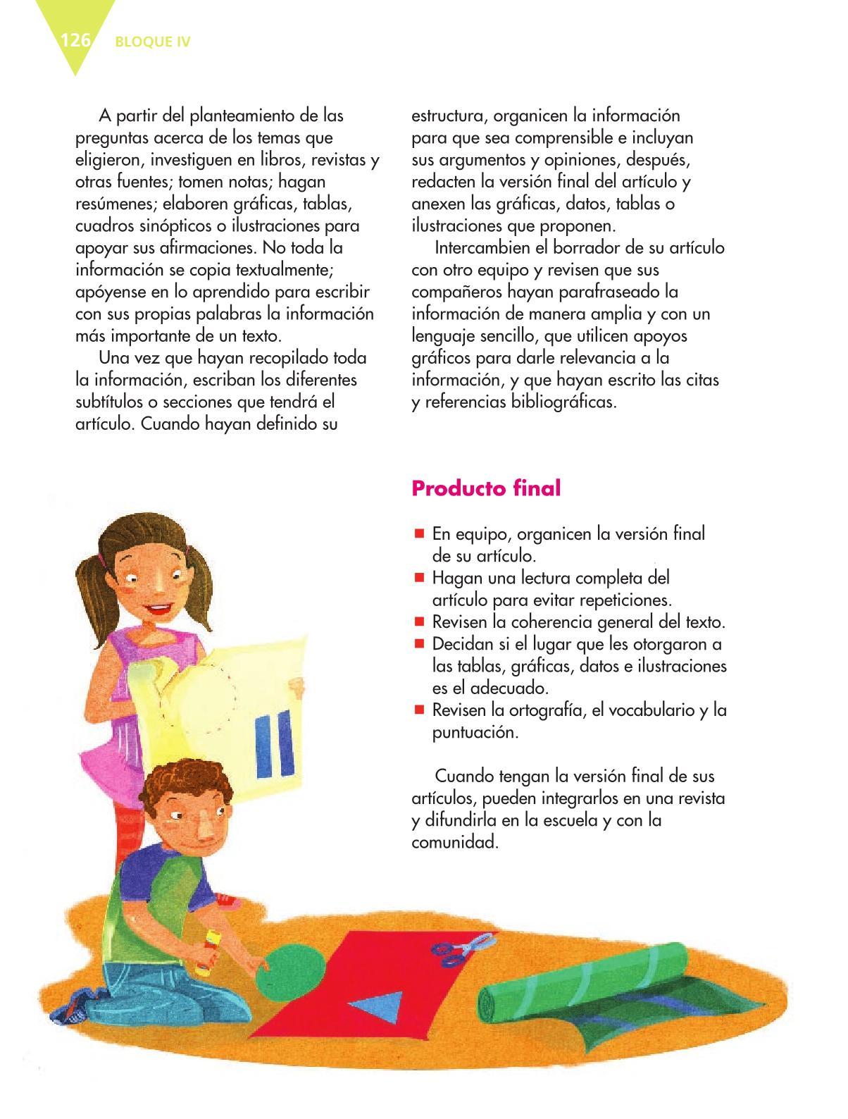 Español Libro para el alumnoquintoPagina 126