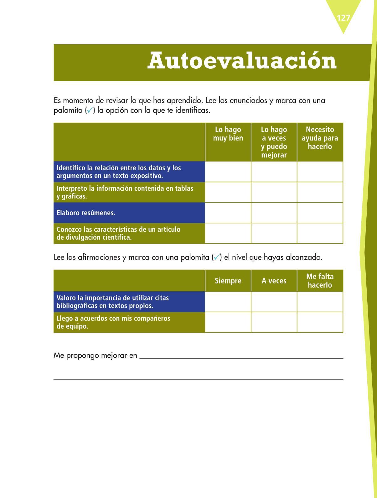 Español Libro para el alumnoquintoPagina 127