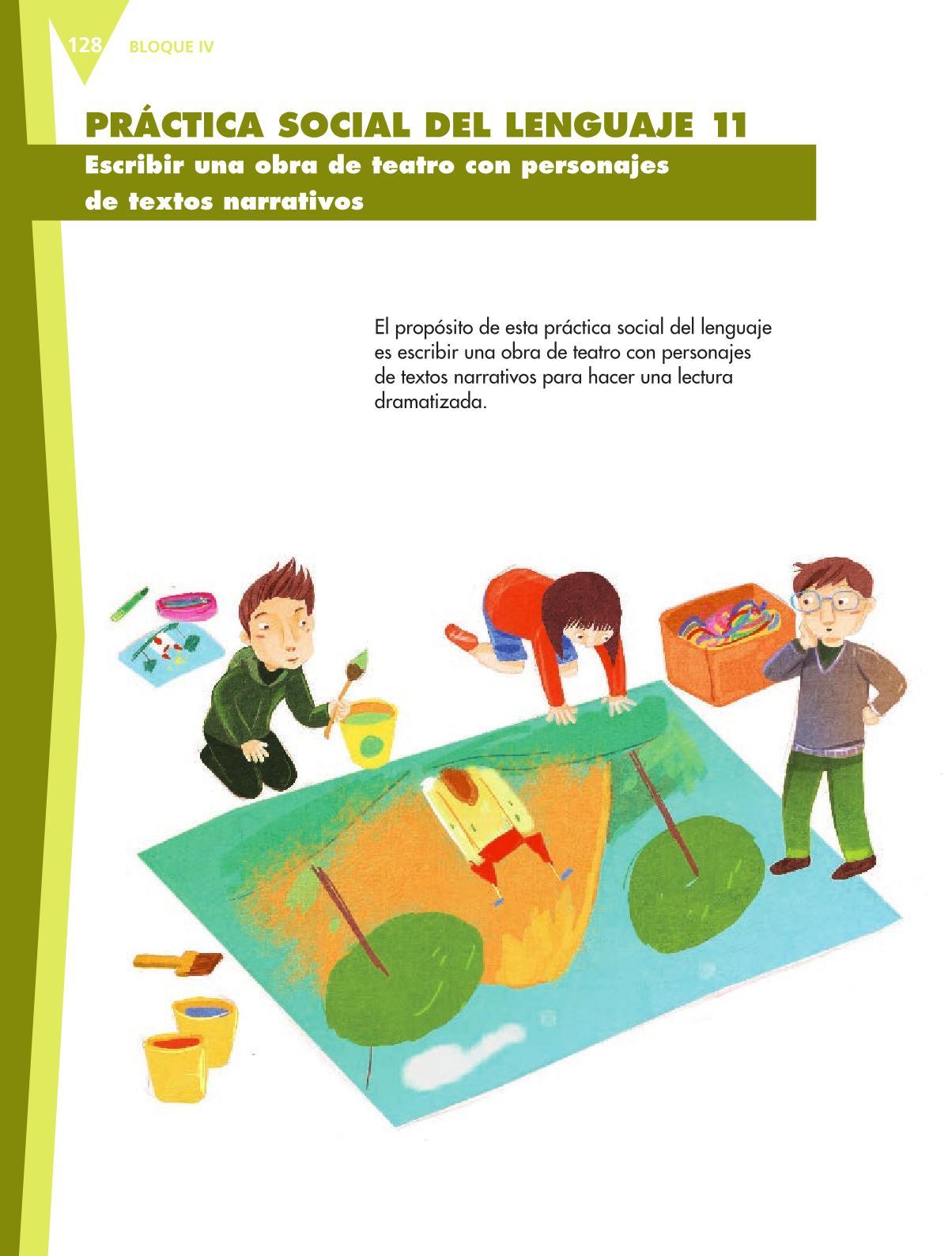 Español Libro para el alumnoquintoPagina 128
