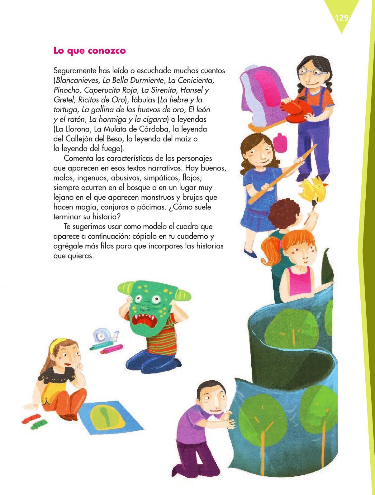 Español Libro para el alumnoquintoPagina 129