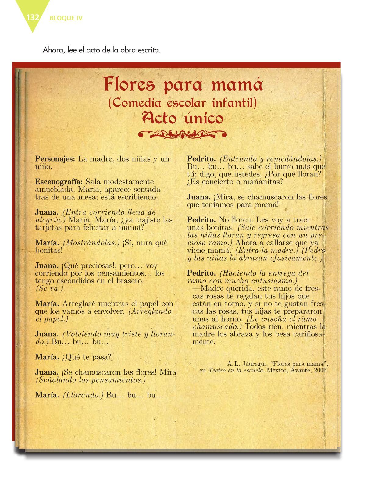Español Libro para el alumnoquintoPagina 132