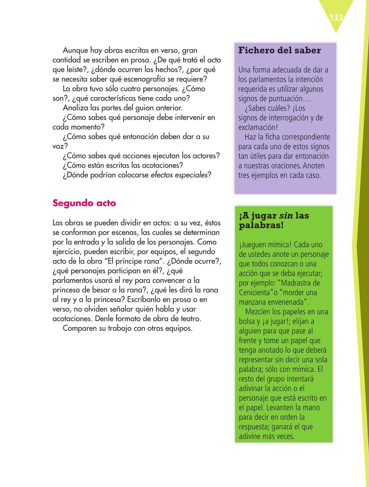 Español Libro para el alumnoquintoPagina 133
