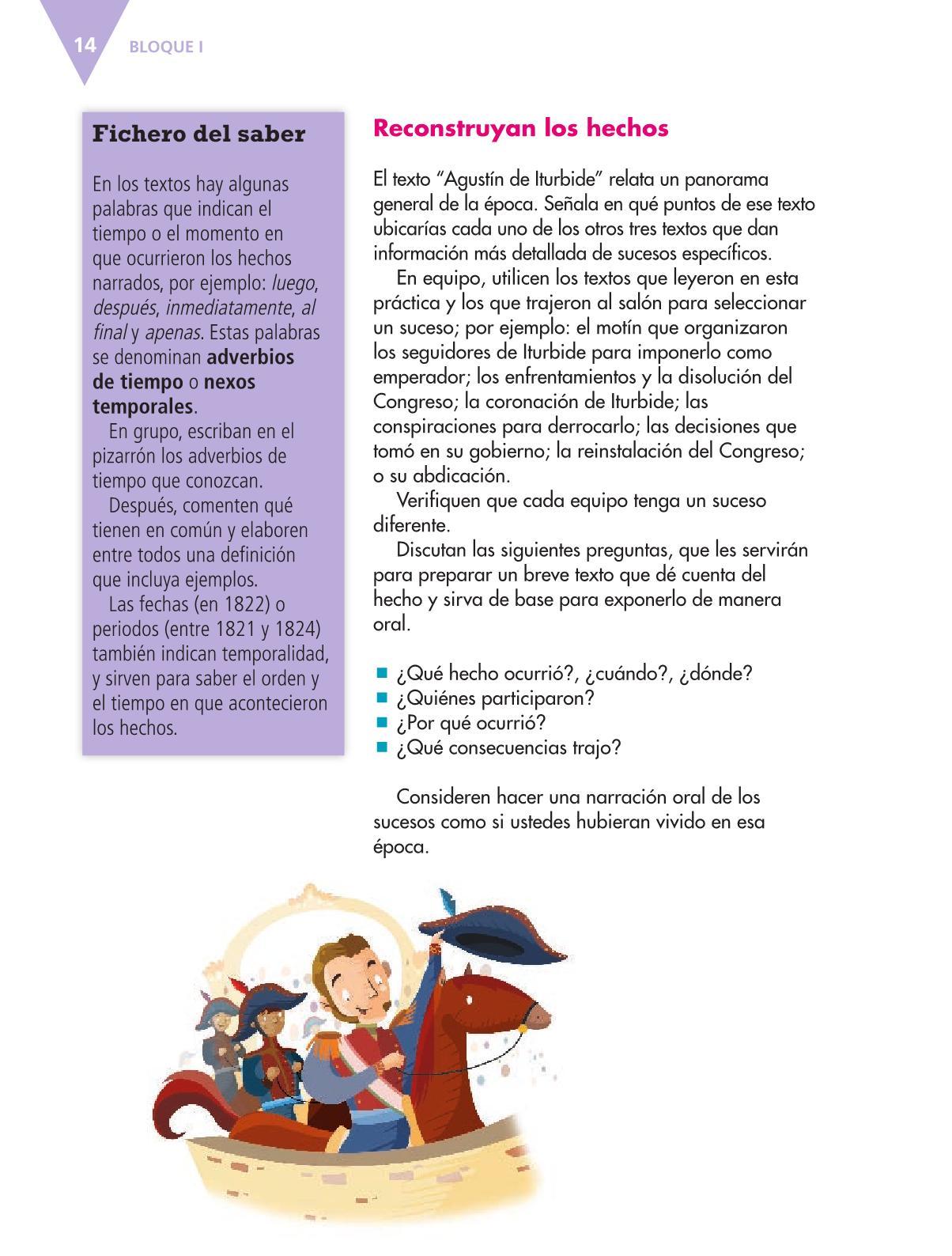 Español Libro para el alumnoquintoPagina 14