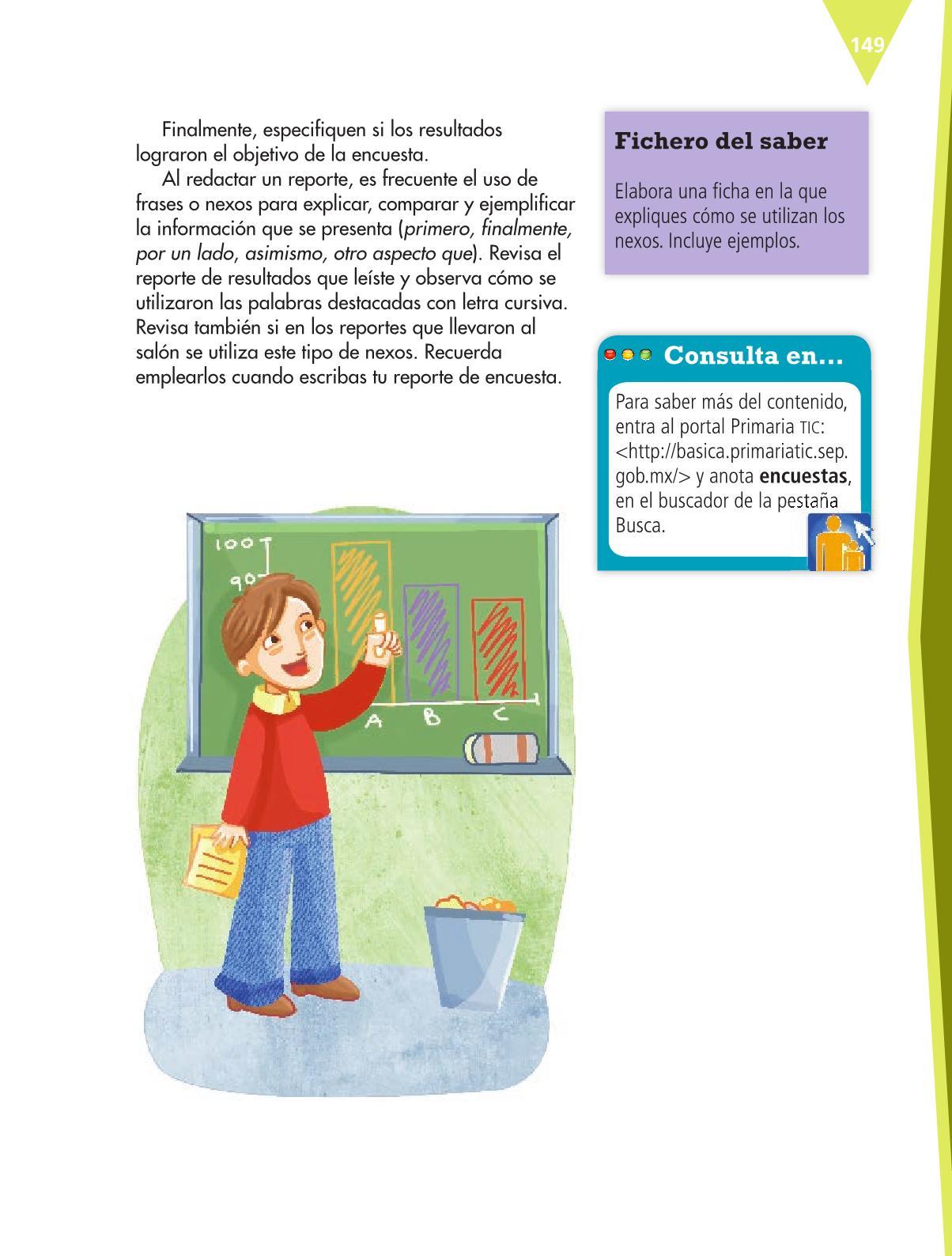 Español Libro para el alumnoquintoPagina 149