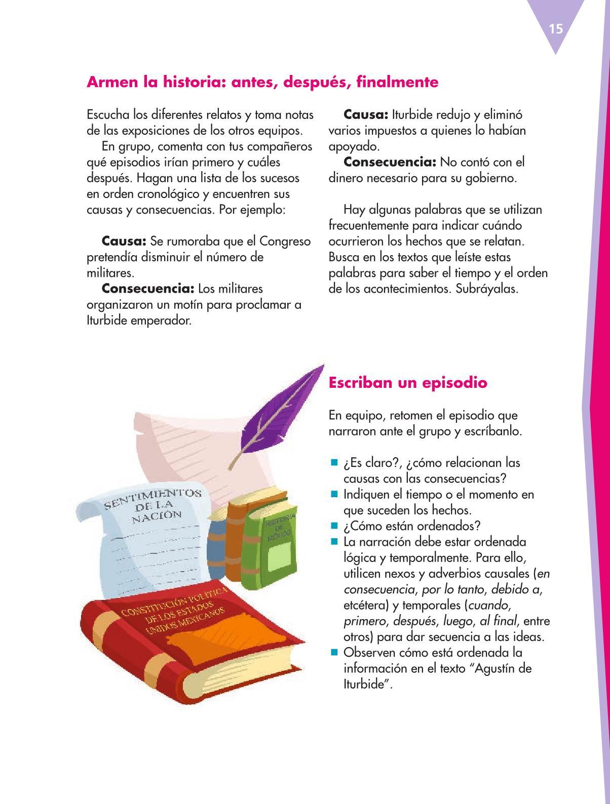 Español Libro para el alumnoquintoPagina 15