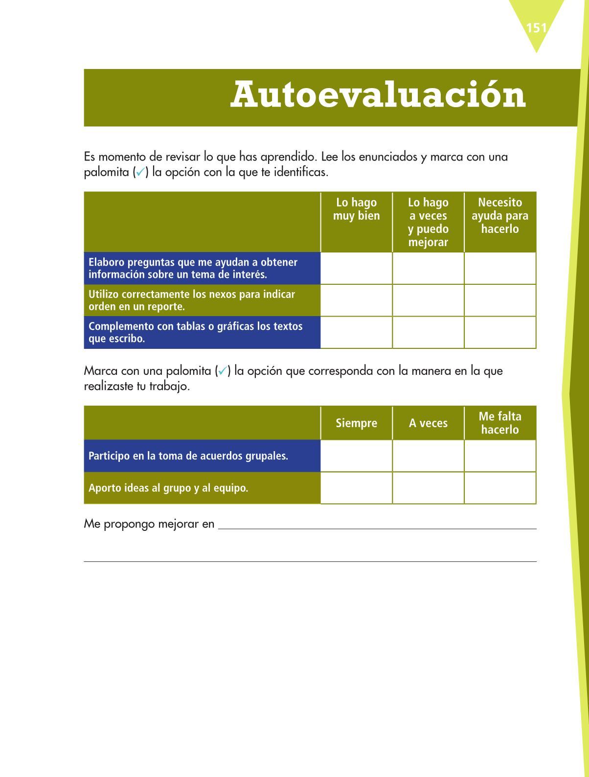 Español Libro para el alumnoquintoPagina 151