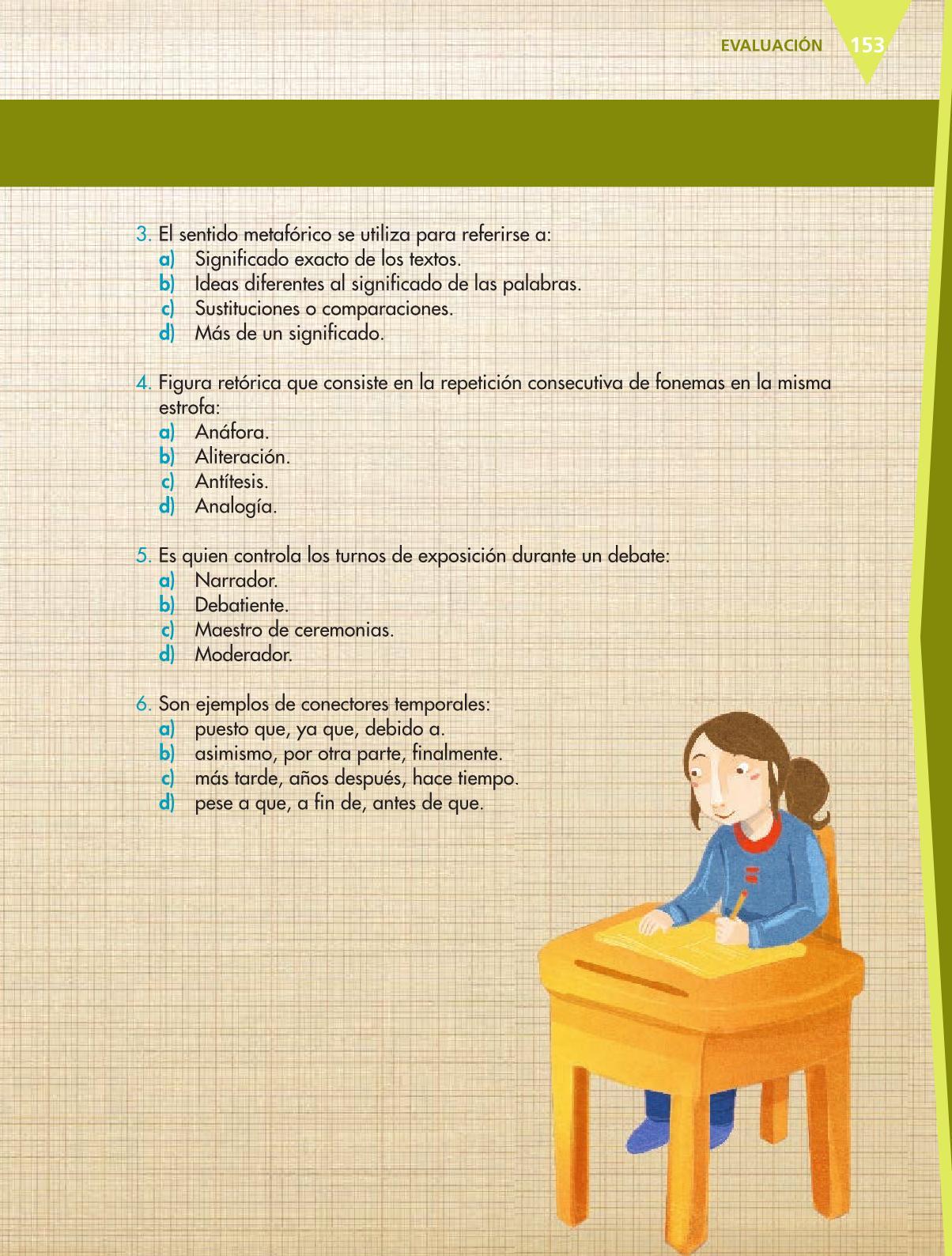 Español Libro para el alumnoquintoPagina 153