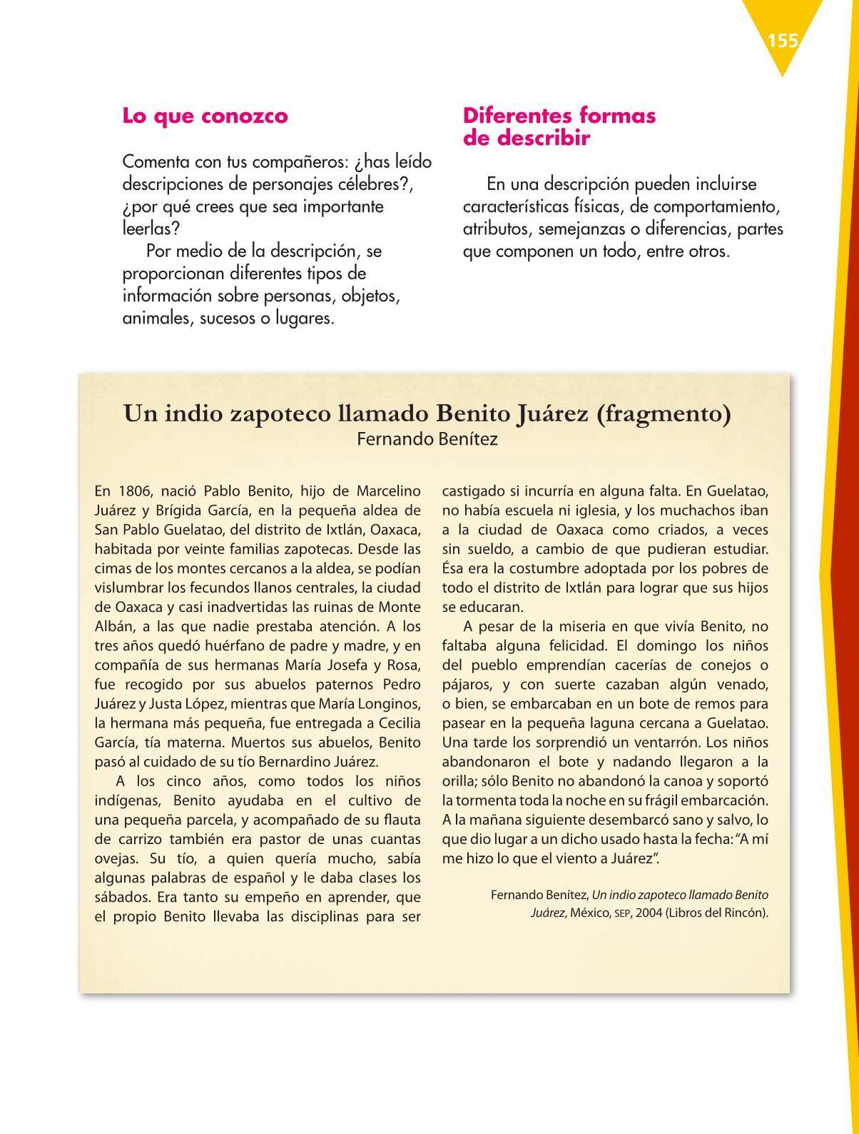 Español Libro para el alumnoquintoPagina 155