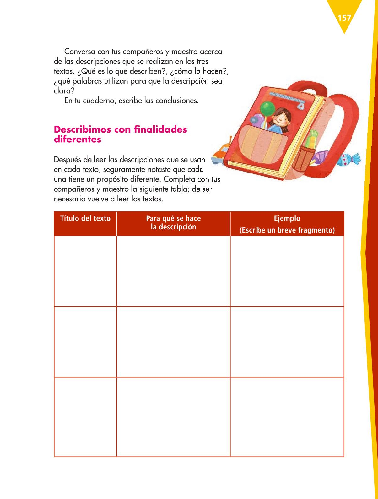 Español Libro para el alumnoquintoPagina 157