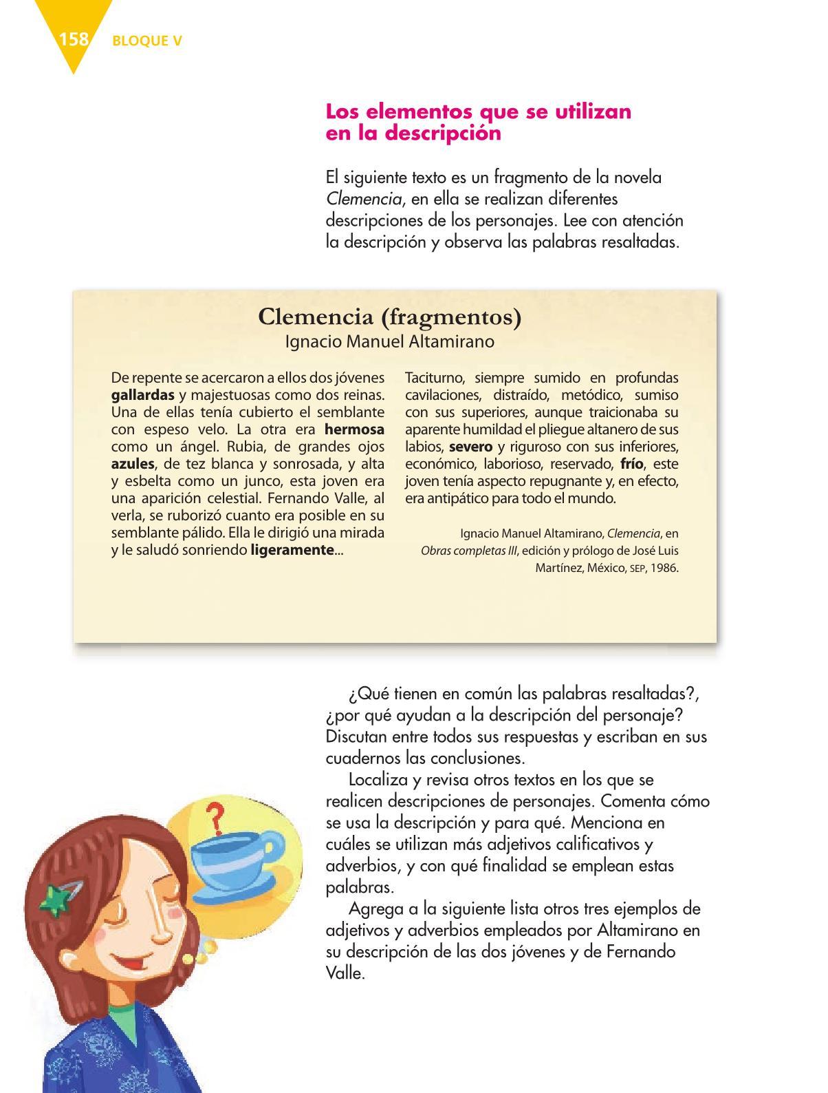 Español Libro para el alumnoquintoPagina 158